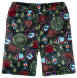 Candy Pink Camping Fleece Shorts