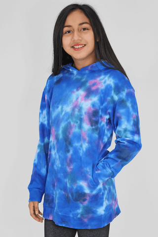 Candy Pink Galaxy Tie Dye Hoodie Dress