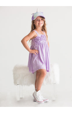 Isobella and Chloe Lavender Flora Dance Dress