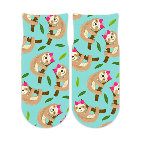 Sublime Designs No Show Socks - Girl Sloth