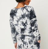 Hayden Los Angeles Women's Black Tie Dye Sweatshirt