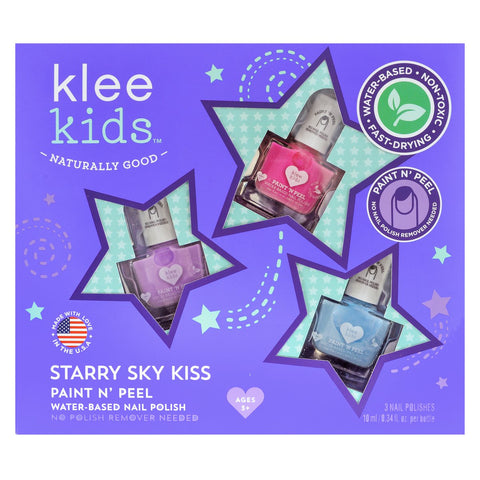 Klee Girls Starry Kiss  Water Based Nail Polish Set