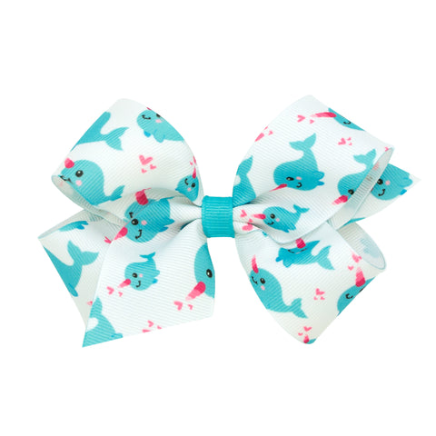 Wee Ones Medium Size Narwhal Hair Bow