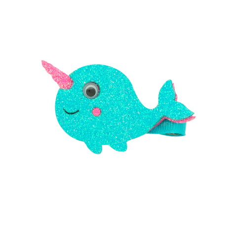 Wee Ones Glitter Narwhal Hair Clip