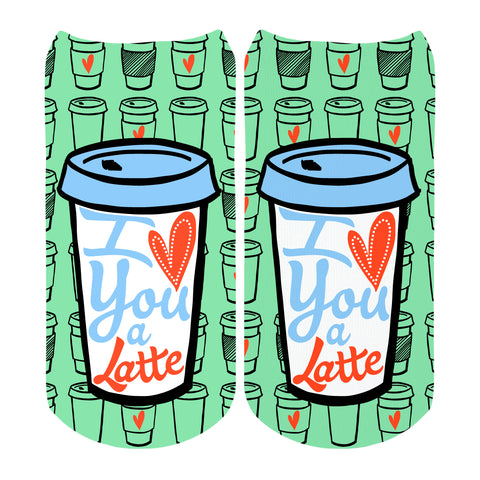 I Love You A Latte Socks