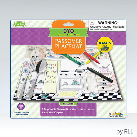 Rite Lite Passover Coloring Placemat Kit