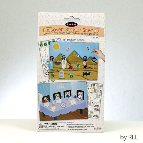 Rite Lite Passover Sticker Scene with Reusable Stickers