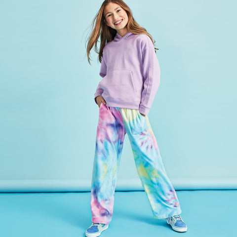 IScream Pastel Tie Dye Plush Pants