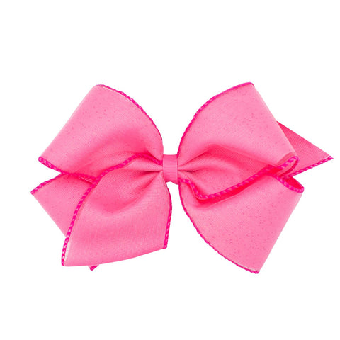 Wee Ones Pink Glitter Edge Bow