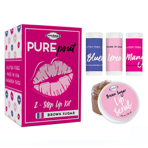 Pure Factory Naturals Pure Pout Brown Sugar 2 - Step Lip Kit
