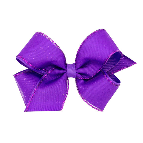 Wee Ones Purple Glitter Edge Bow