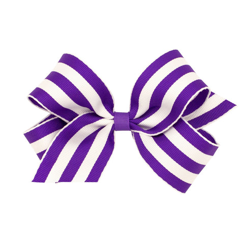 Wee Ones Medium Purple Striped Bow
