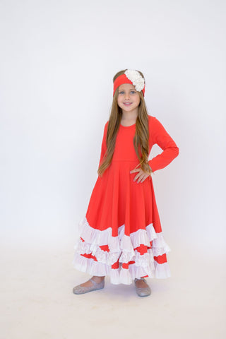 Serendipity Red Twirl Dress