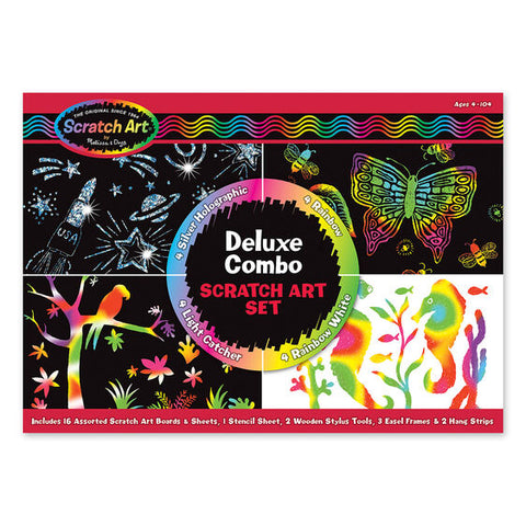 Melissa & Doug Scratch Art Deluxe Jumbo Set