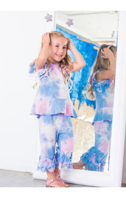 Isobella and Chloe Sunny Smile Tie Dye 2 Piece Set