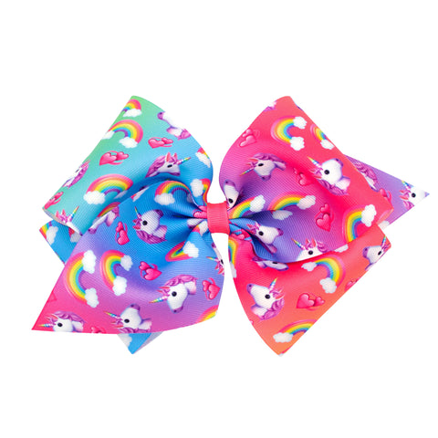 Wee Ones King Size Unicorn & Rainbow Hair Bow