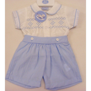 Smocked short & tops 6-9