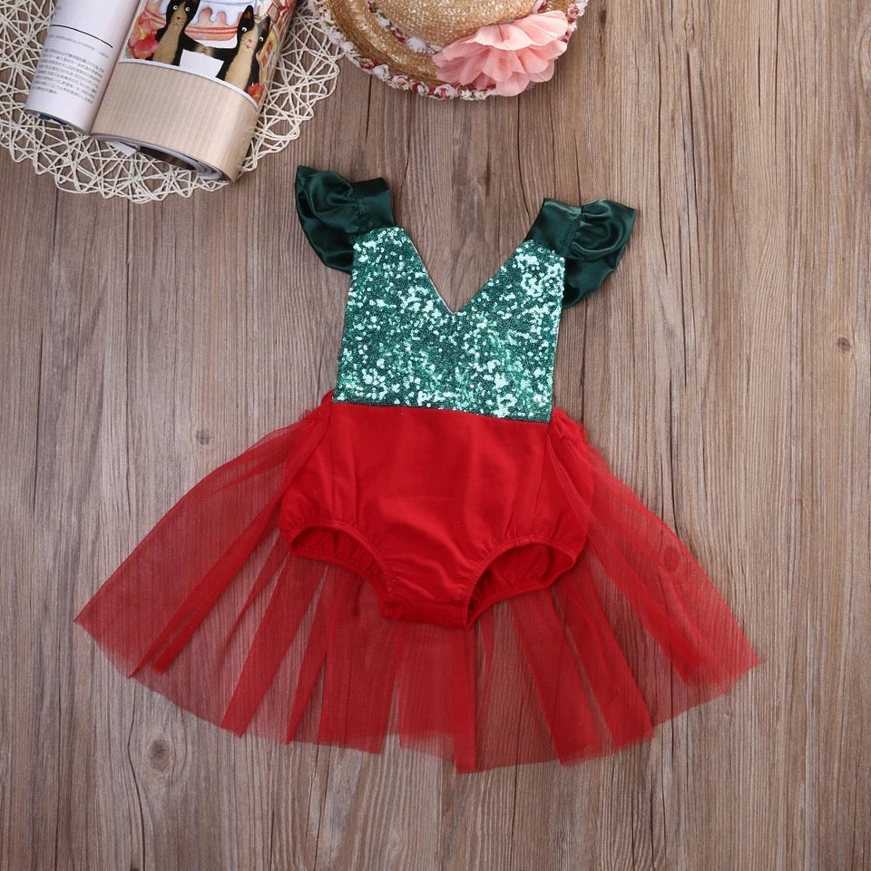 Christmas sequin romper (3 months- 3 years)