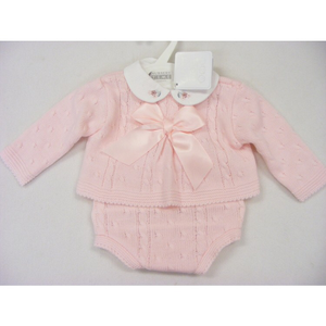 Pink Bow & cable 3-6