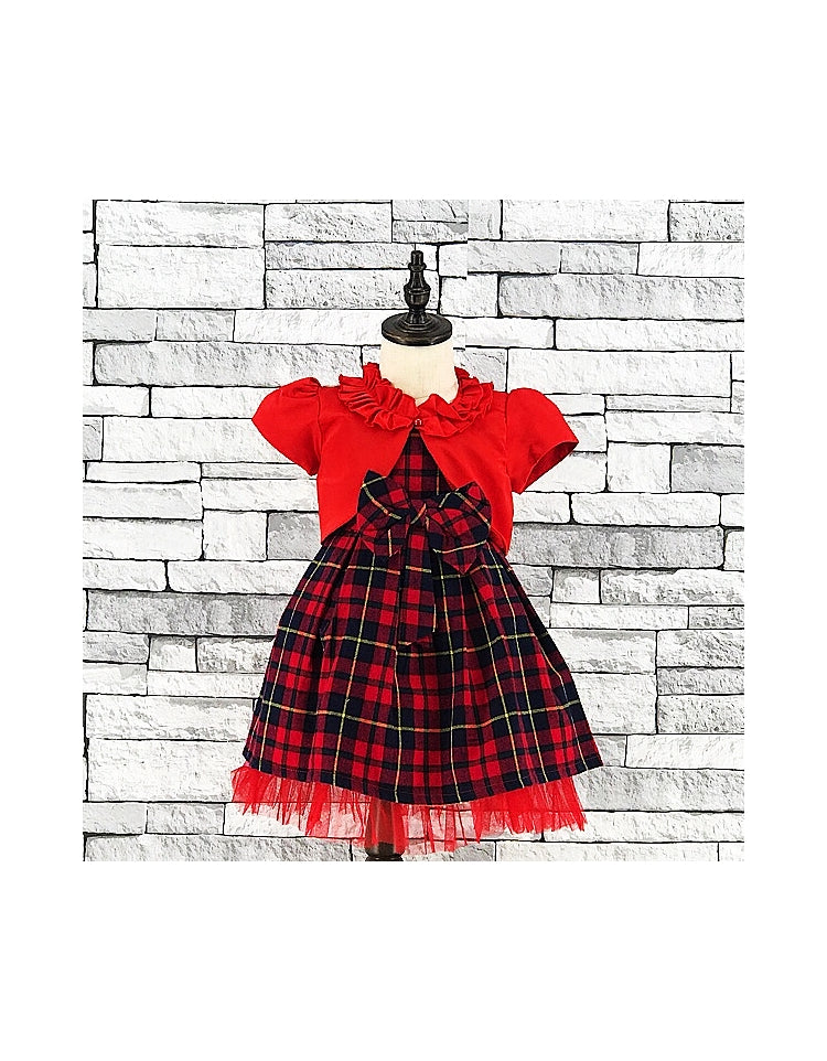 Tartan Dress with Bolero