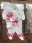 3 pc set with pink bow