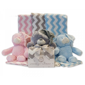 Teddy & Blanket Set (pink)