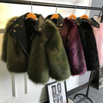 Faux fur pu leather insert coat (2-7 years)