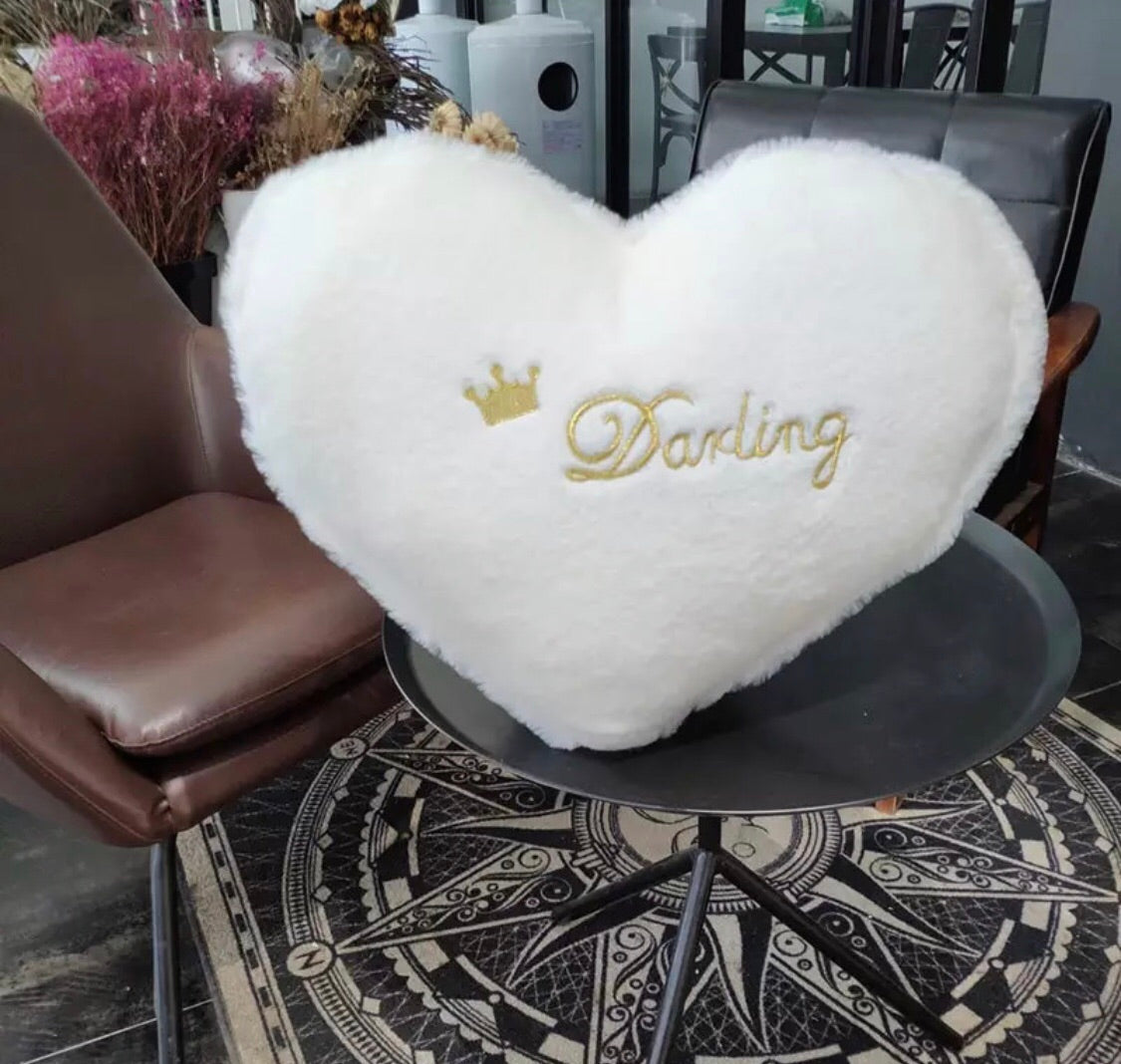 White darling cushion