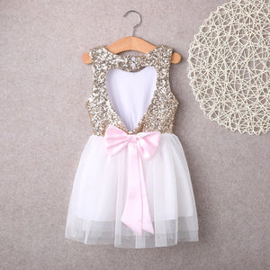 Gold sequin sweetheart dress (4-6 years)