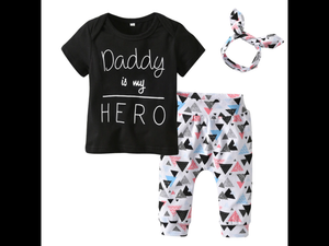 Daddy is my Hero Set