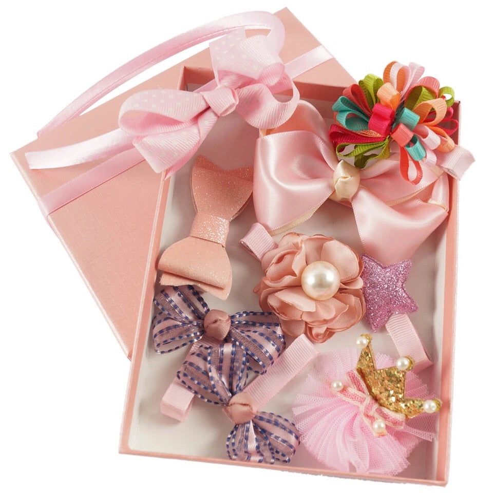 9 piece hair accessory gift set