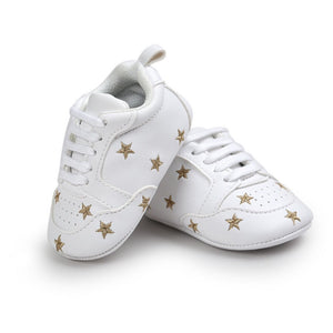 Gold star baby shoes (6-12 months)