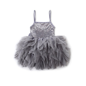 Lilley silver sequin dress 3-7 years