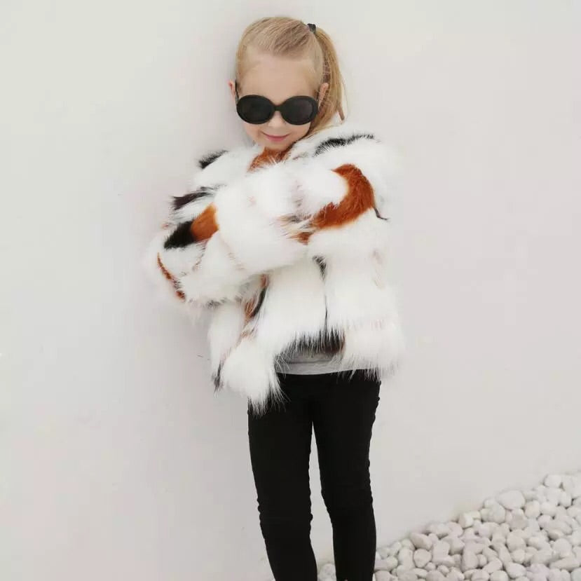 Multi faux fur coat ( 3-7 years )