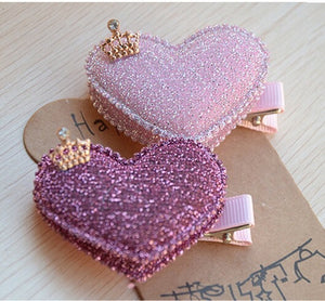 Heart hair clips 2 pack