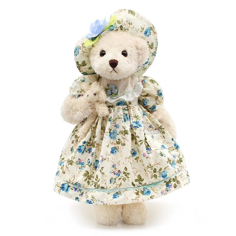 Blue floral teddy