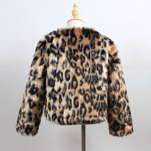 Leopard print faux fur coat (3-7 years)