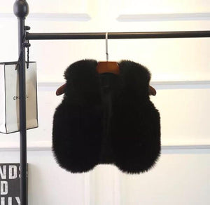 Black Faux Fur Gilet 2 yrs