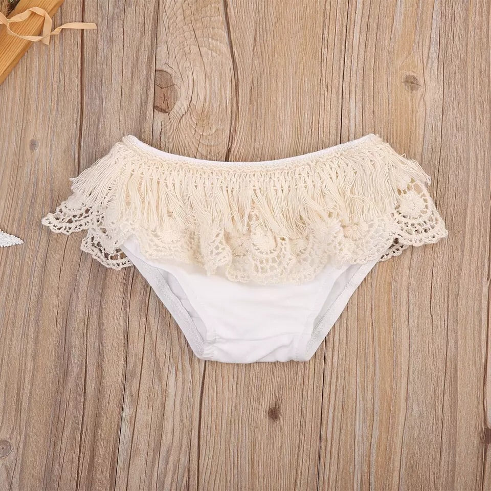 Lace trim bloomers (3-18 months)