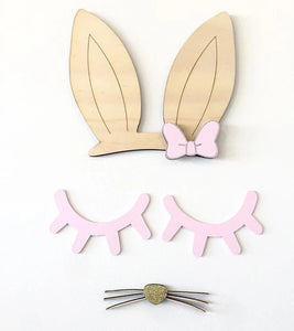 Pink pair of wooden lashes