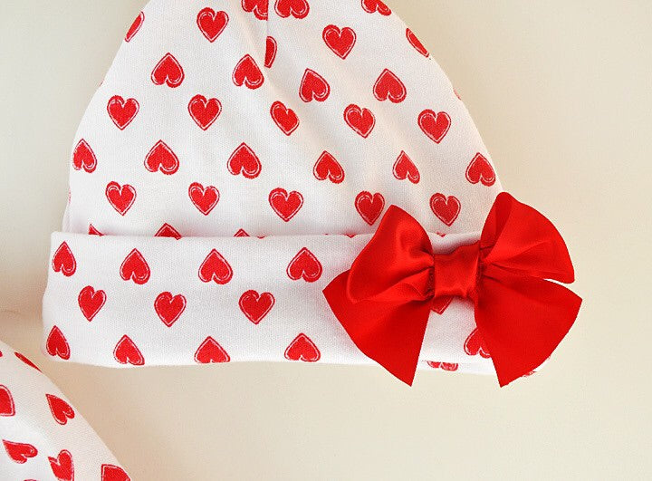 Love heart print all in one set ( 3-9 months)
