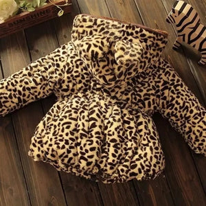 Leopard print hooded coat (6 months - 5 years)