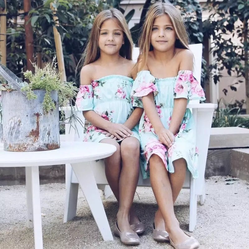 Matching mum and Daughter dresses