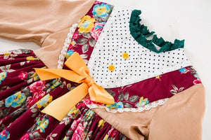 Autumn floral dress and headband (2-6 years)