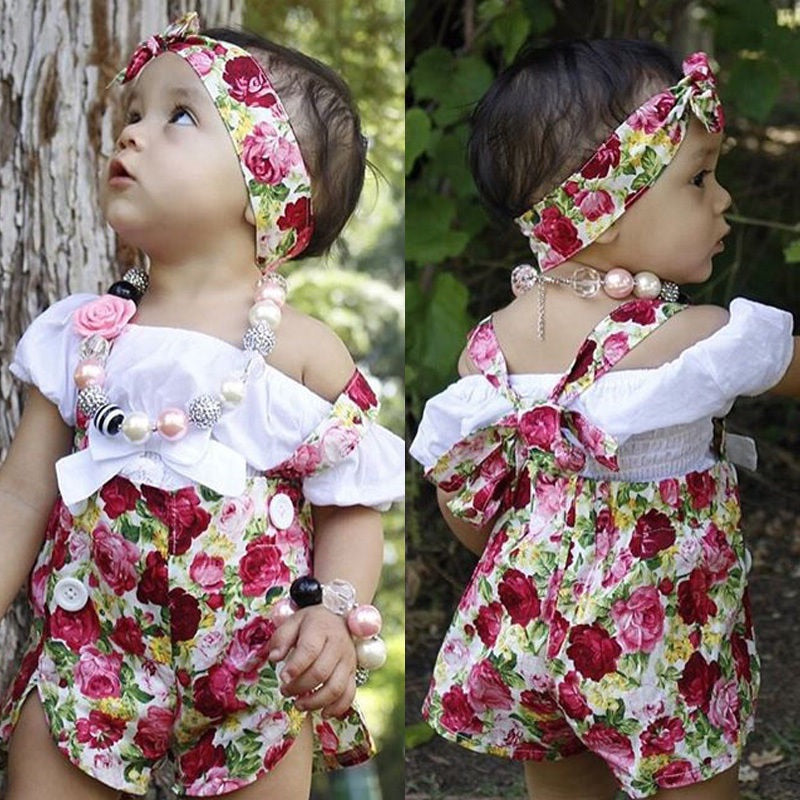 Red summer floral 3 piece set