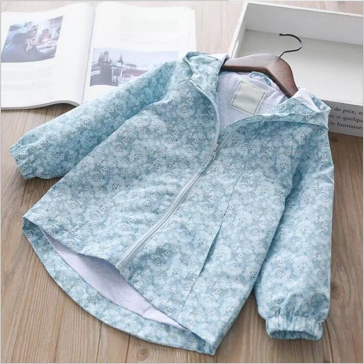 Sky blue lightweight coat (2-7 years)