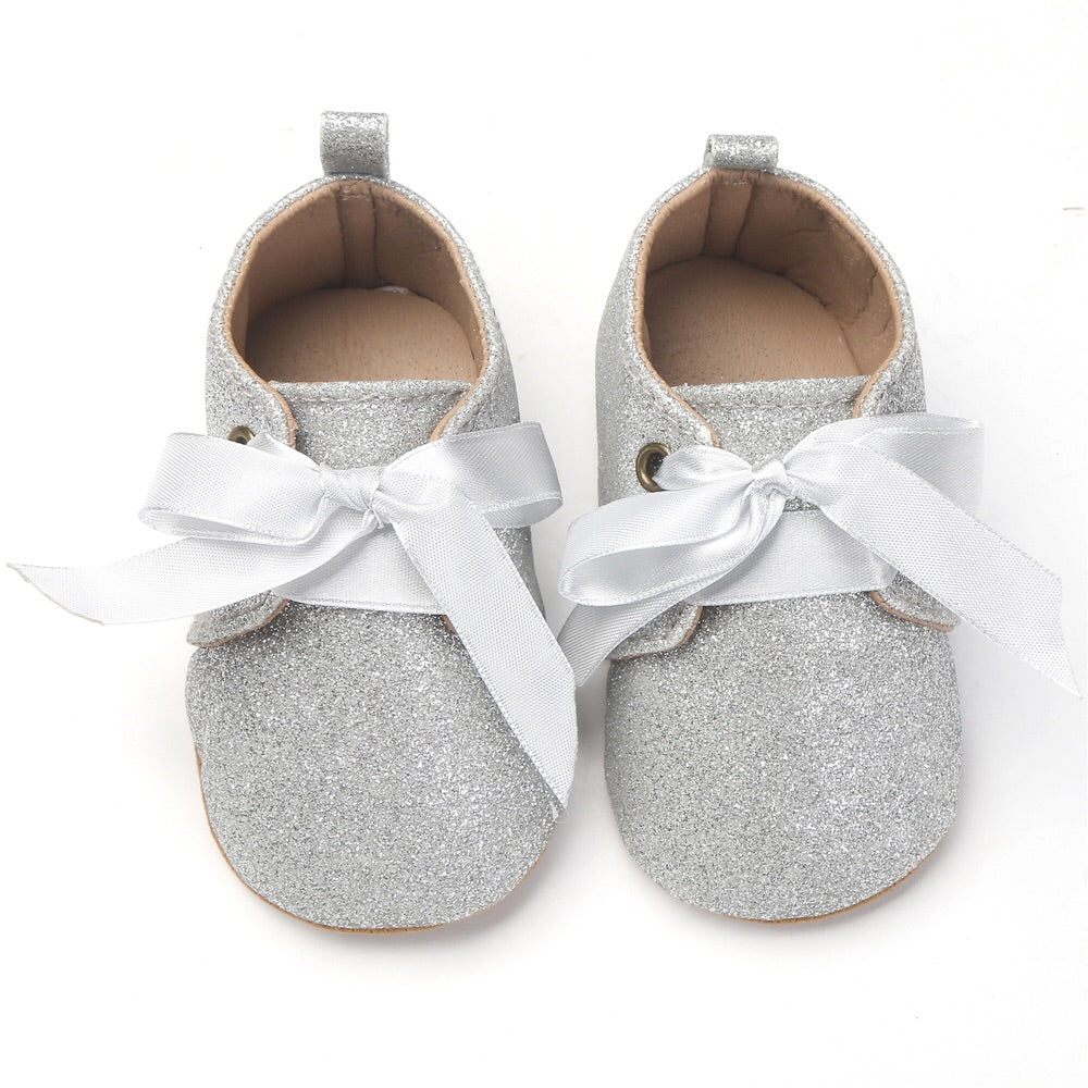 Glitter lace up shoes (0-18 months)