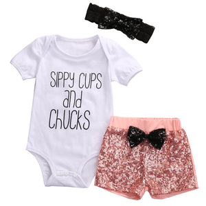 Sippy cups and chucks 3 piece set