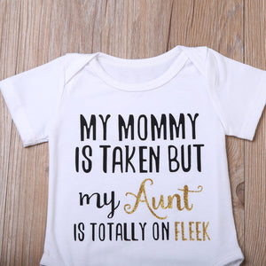 Aunt text bodysuit (0-12 months)
