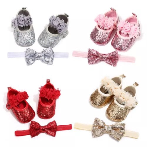Sequin glitter shoe set (0-18 months)